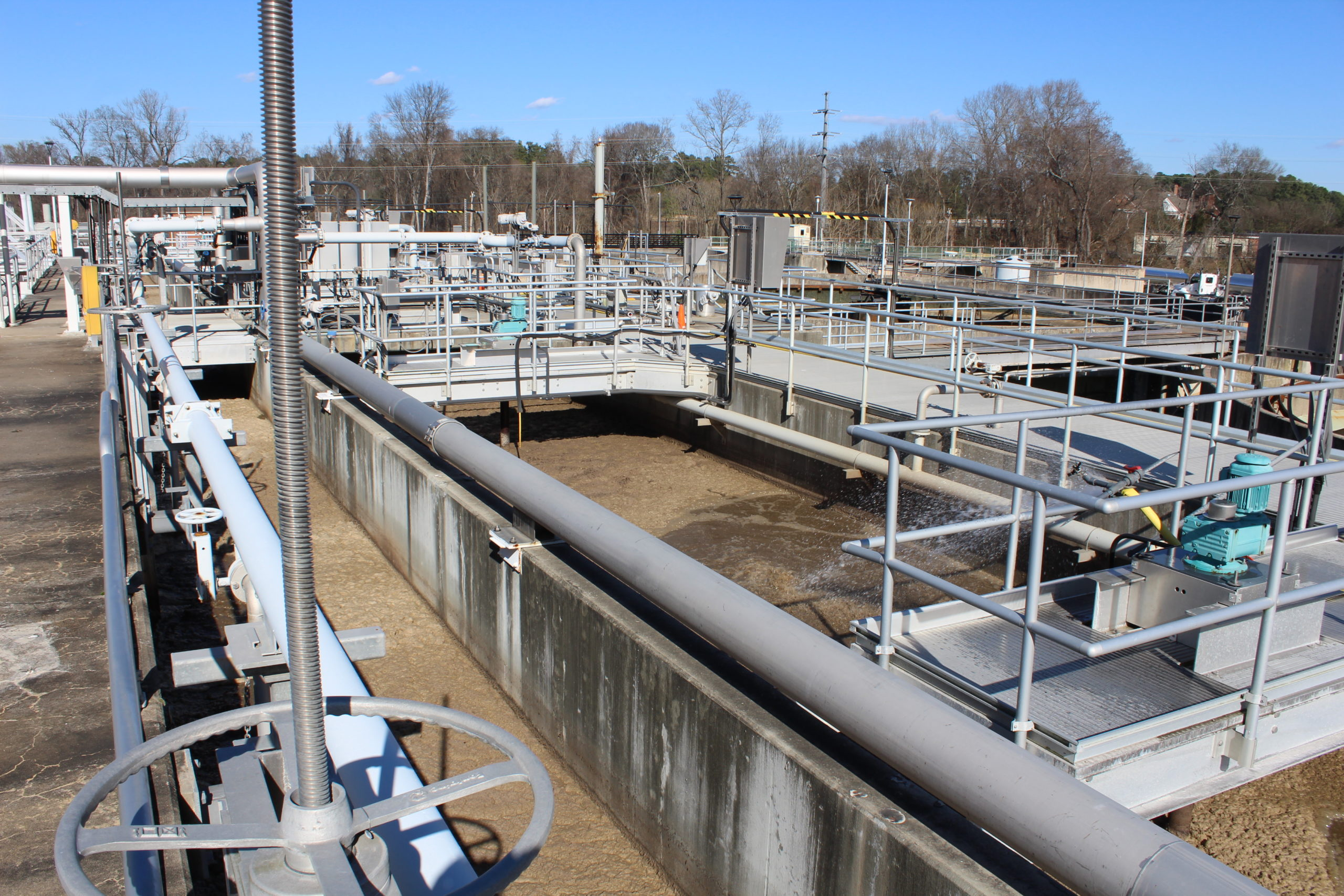 Aeration at Wastewater Treatment Plant