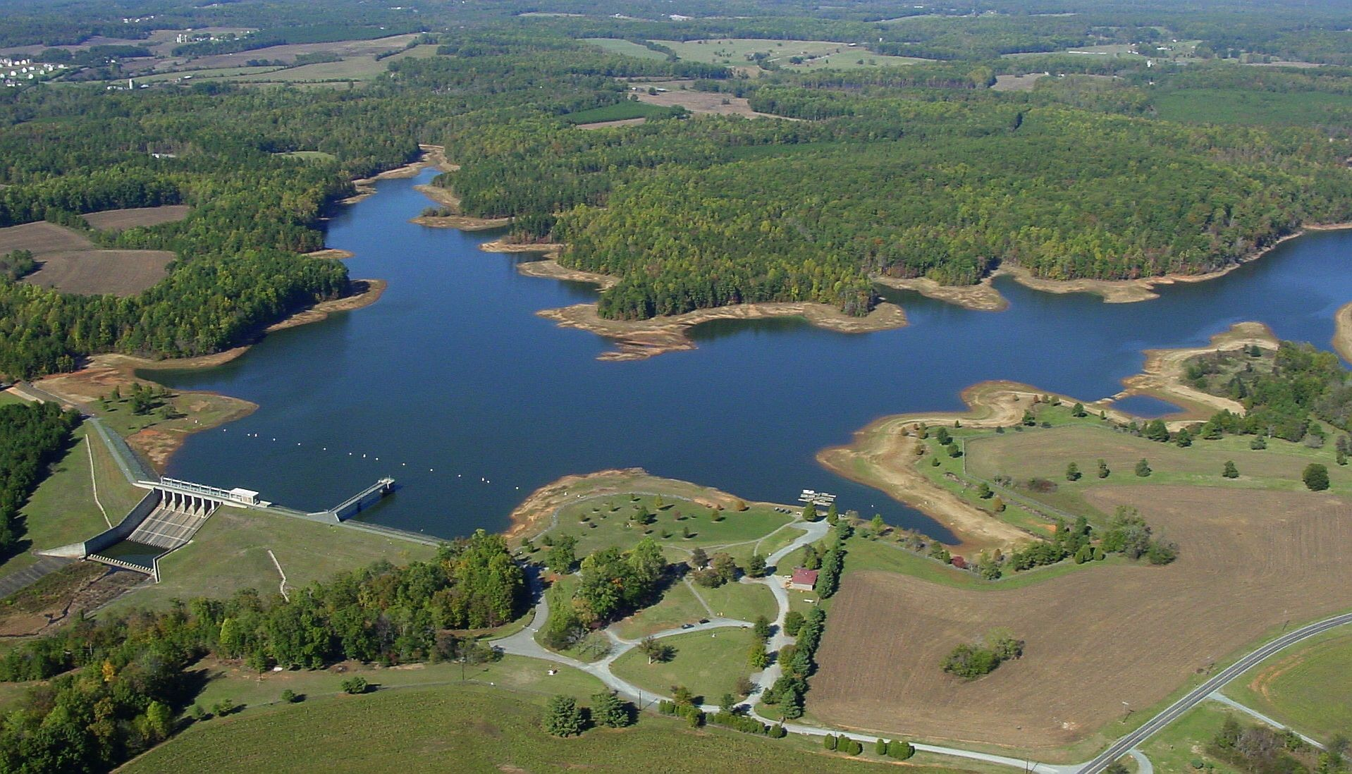 Aerial Picture of Cane Creek During Drought