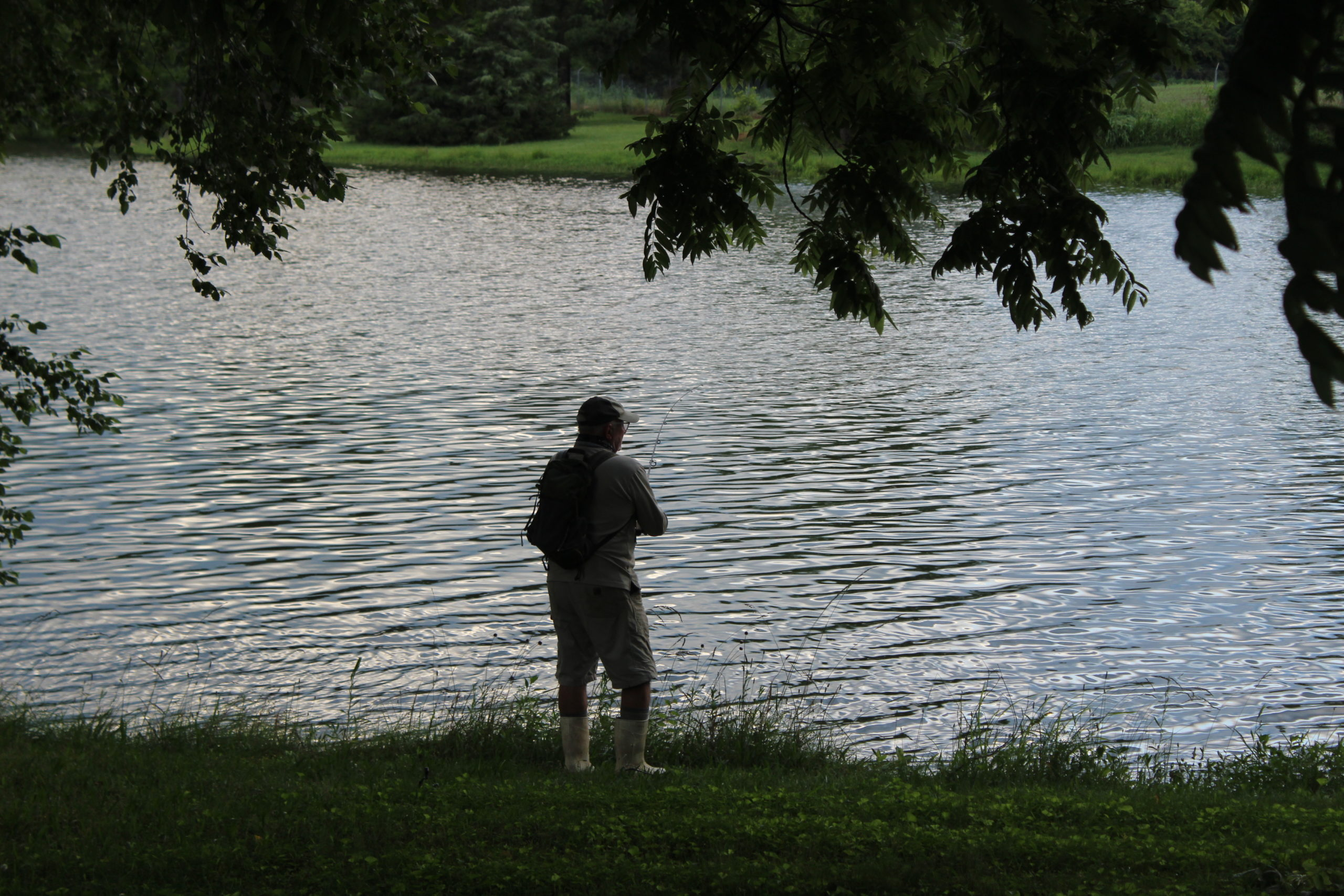 Fisherman at Cane Creek Reservoir